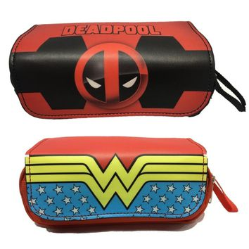 Deadpool Wonder Woman Suicide Squad Pencil Bag cosplay Pencil Case Kids Girl Stationery Container School Supplies