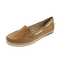 Naturalizer Womens Hanover Leather Flats Boat Shoes