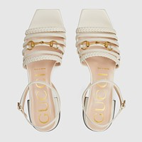 GUCCI Women's leather sandal with Horsebit