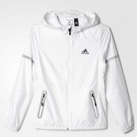 Adidas Sport Hooded Cardigan Jacket Coat Windbreaker