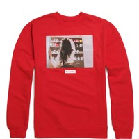 Visual by Van Styles Shoe Game Crew Neck Sweatshirt - Mens Hoodie - Red