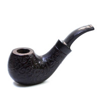 Vintage Black Wooden Pipe, Wooden Pipe. Tobacco Smoking Pipe, Exclusive Smoking Pipes, ohtteam