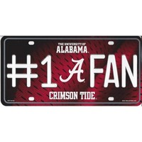 Alabama Crimson Tide #1 Fan Metal License Plate | Alabama Fans License Plates | BAMA License Plates