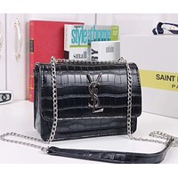 YSL Women Fashion Chain Leather Handbag Satchel Shoulder Bag Crossbody