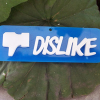 Facebook DISLIKE Pendant by GreekArt on Etsy
