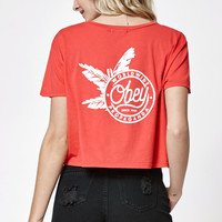 OBEY Palm Print Cropped T-Shirt at PacSun.com