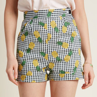 Collectif x MC Charming Chat High-Waisted Shorts