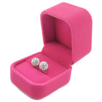 Upscale Jewelry Box Wedding Marry LED Ring Stud Earrings Box Jewelry Box