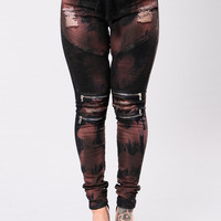 Paint Saint Joggers - Black/Copper