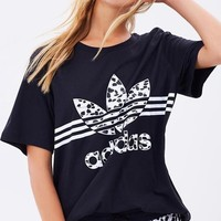 Tagre™ Women Fashion Adidas Black T-Shirt Top Tee