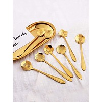 Stainless Steel Floral Spoon 8pcs