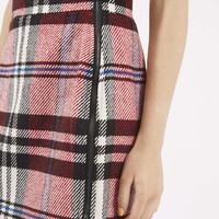 Checked Twill High-Waisted Skirt - Topshop