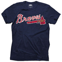 Atlanta Braves Triblend Logo T-Shirt by Majestic Threads - MLB.com Shop