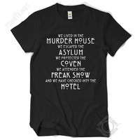 AHS Timeline T Shirt - Regular Fit - American Horror Story Episodes / Seasons