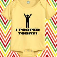 I Pooped Today Funny Baby Shirt Infant One Piece Little Boys Tee Newborn Jumper Babies Tops Humorous 0 6 12 18 24 Month Romper Bodysuit