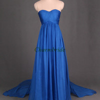 simple folded chiffon prom dresses long floor length sweetheart evening dress unique elegant gowns for party