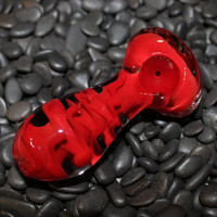 Extra Thick Red Glass Pipe