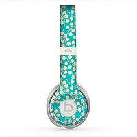 The Blue and Yellow Floral Pattern V43 Skin for the Beats by Dre Solo 2 Headphones