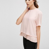 Y.A.S | Y.A.S Special Top with Pleated Hem at ASOS