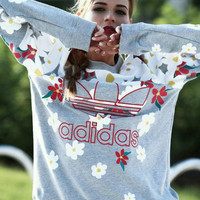 Adidas Fashion Printing Pullover Tops Sweater Sweatshirts