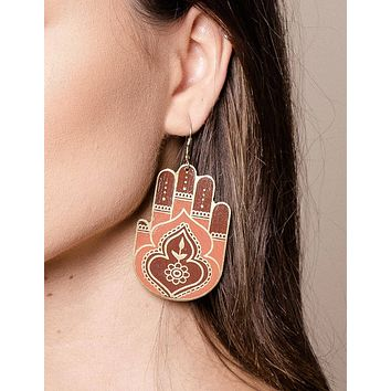 Fair Trade Hamsa Earrings
