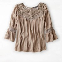 AEO LACE MIXED TOP