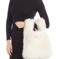 French Connection | Elle Faux Fur Wristlet Shopper Bag | Nordstrom Rack