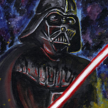 Star Wars Darth Vader 9x12 Acrylic Painting Disney Star Wars Movies Art Home Decor Wall Art