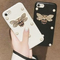 Pearl bee iPhone Phone Cover Case For iphone 6 6s 6sp 7 7plus