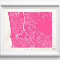 Daly City Print, California Print, Daly City Poster, California Poster, Street Art, Wall Decor, Wedding Gift, Office Decor, Halloween Decor