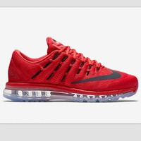 """NIKE"" Trending AirMax Toe Cap hook section knited Fashion Casual Sports Shoes Red bla"