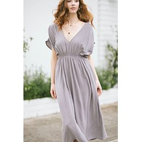 Kiara V Neck Midi Dress
