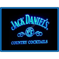 Jack Daniel's Country Cocktails Whiskey Bar Pub Restaurant Neon Light Sign