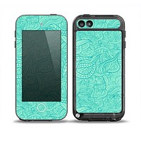 The Teal Leaf Laced Pattern Skin for the iPod Touch 5th Generation frē LifeProof Case