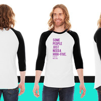 High Five American Apparel Unisex 3/4 Sleeve T-Shirt