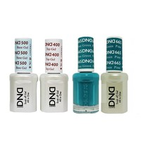 DND - Base, Top, Gel & Lacquer Combo - Pine Green - #665
