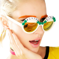 Rad and Refined Flying High Sunglasses Cream One
