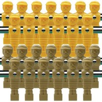 26 Old Style Tan and Yellow Foosball Men
