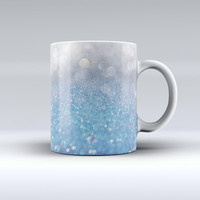 The Unfocused Blue Orbs of Light ink-Fuzed Ceramic Coffee Mug