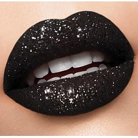 Black glitter lip collection