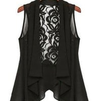 Lace Waistcoat with Drape Front