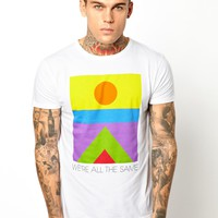 Sixpack France T-Shirt with We Are All The Same Print -