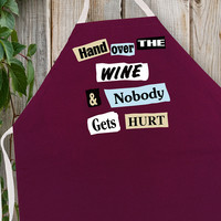 Attitude Apron Hand Over the Wine