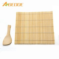 ABEDOE 1 Set Sushi Rolling Mat Roller Bamboo Material Mat Maker DIY And A Rice Paddle Sushi Tools Cooking tool kitchen gadgets