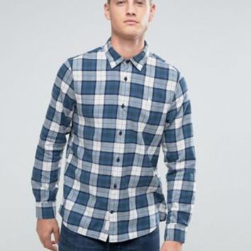 Jack Wills Salcombe Regulat Fit Flannel Check Shirt In Blue at asos.com