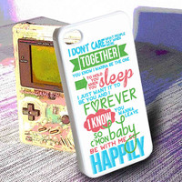 One Direction Happily inspired -  iPhone 6, iPhone 6+, samsung note 4, samsung note 3,iPhone 5C Case, iPhone 5/5S Case, iPhone 4/4S Case, Durable Hard Case