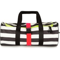 Monreal London - Striped neon-trimmed leather holdall