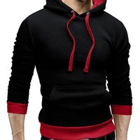 Casual Solid Color Slim Fit Sportswear Hoodie