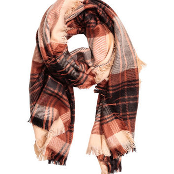 Plaid Scarf - from H&M