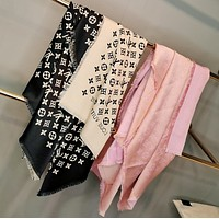 LV  Trending Fashion  Embroider Easy to match Silk Scarf